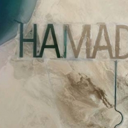 Sheikh's name in sand visible from space.