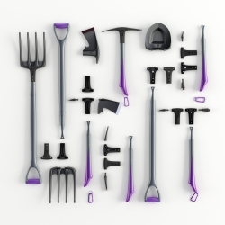 Modular Hand Tools, innovative garden tools set  by Hakan Gursu.