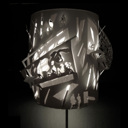 Lampshade inspired by the pleasure of Christmas Shopping!
