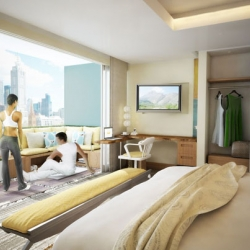 Haptik is a hotel suite, designed by WATG/IDEO for the design challenge issued by the USGBC. It blends the luxurious and hi tech environment with the sustainability features on a hospitality design strategy.