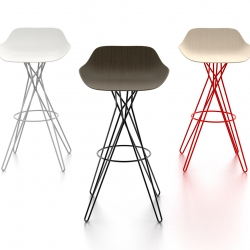 Harmony Stool mixes the concepts of chaos and order. This beautiful high stool produced by Poliform and designed by Rodrigo Torres, was presented at Milan's design week 2013.