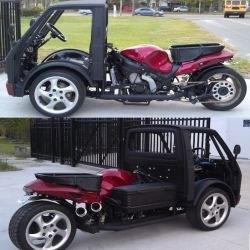 Hayabusa Reverse Trike is amazingly cool.