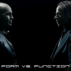 Porsche Design's take on Form vs. Function.  It is a cool video featuring Hollywood actor Billy Zane.  See which way Porsche Design tips the scale.  First function, then form? Vice-versa? Or do they go hand-in-hand?