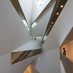 The Herta and Paul Amir Building at the Tel Aviv Museum of Art located within the heart of Tel Aviv, is a freestanding concrete and glass building designed by Preston Scott Cohen.
