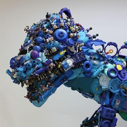 Hiroshi Fuji's exhibition in Tokyo recycled more than 50,000 used and discarded toys collected over the past 13 years into artworks and an interactive space.