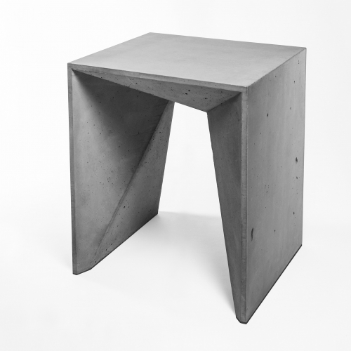 Hocker Heinrich is a steel and fibre-reinforced lightweight concrete stool. Hocker Heinrich was designed by Panatom with Matthias Froböse, one-of-a-kind design and pore structure, hand-made in Berlin