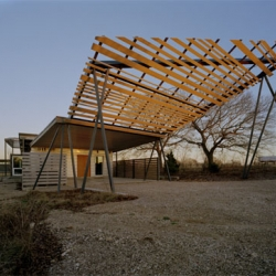 This is Holiday Desert House of Texas Twister House by BuildingStudio