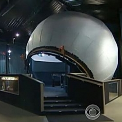 Man builds world's largest rolling, mechanical globe planetarium in his backyard