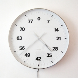 The Life Clock. Clock mechanism slowed down 61320 times (each number represents years)