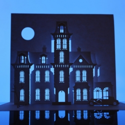 London-based artist Marc Hagan-Guirey has created a highly interesting series called Horrorgami, papercraft artworks dedicated to those haunted houses we all grew up watching.