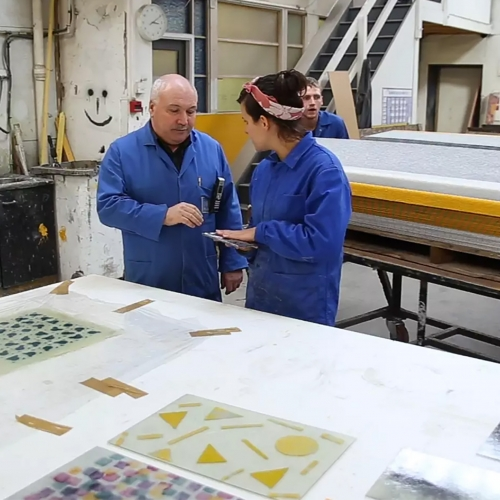 What happens when you put textile designers in a resin factory? Bespoke Atelier collaborate with Smyth Composites as part of the Hospitalfield in Industry residency.