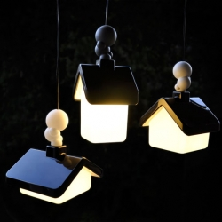 New 'House Lights' lighting concept from Kristian Aus - A village of lights