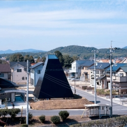 Saijo House in Hiroshima  by SUPPOSE design office, clearly defines primitive living in a modern day pit dwelling.