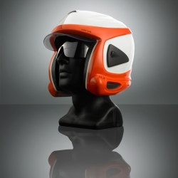 Aeros, ski helmet with a system for backcountry protection. Wearing modes for both skiing and avalanche protection.