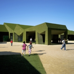 An awesome new school by Huma Studio made entirely of Turf Grass!!!