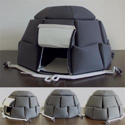 Georgi Djongarski a bulgarian designer, which makes I-gloobox for vagabonds. tent that can house mangled is made of thick fabric, which is connected together with a band attached to the aluminum folding.