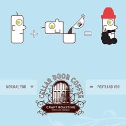 Normal You + Cellar Door Coffee = Portland You …a clever little campaign for Cellar Door Coffee Roasters.