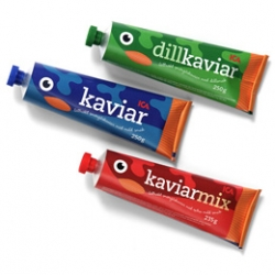 Adorable packaging design by Henrik Hallberg for ICA Kaviar.