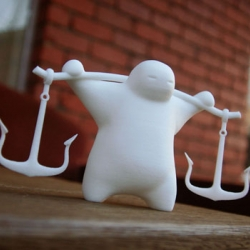 Cool little Anchor Guy figure by MoShape - made using Shapeways 3D printing technologies - nice.