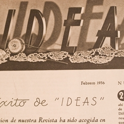 A collection of photographs from IDEAS magazine (from Barcelona 1936). The collection highlights the vintage typography and lettering throughout two issues.