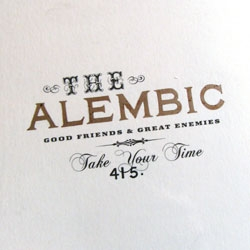 The Alembic Bar ~ incredible identity and environment design by Nothing Something, and great drinks & food too.