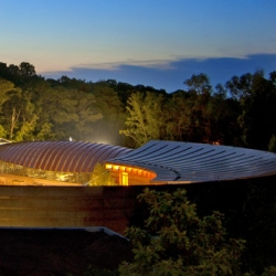 First Look at Alice Walton's new Crystal Bridges Museum of American Art in the woods of Bentonville, Arkansas.