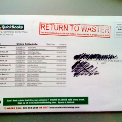 Return to Waster! Make louder statement when you return the junk mail!