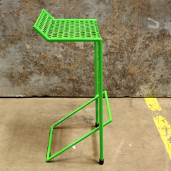 """The Howard"" from RADfurniture is an all-weather, stack-able bar stool, constructed entirely of powdercoated steel. Available in 3 heights and a multitude of colors."