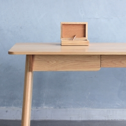 "The Westmore Chamber Desk by Melbourne designer C K Goff features a secret drawer that can only be unlocked using the included cigar box. A satisfying ""thunk"" lets you know that you've hit the right spot…"