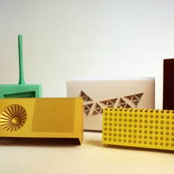 Laser cut, RFID tagged paper radios by Matt Brown