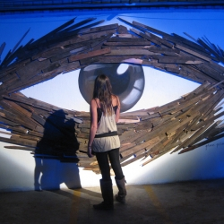"Stop motion animation of ""LE WOLF EYE"", art installation by mexican artist and illustrator Gibran Julian."