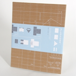 Each box is used to send a book. The recipient may then reuse as packaging, use as a briefcase or cut into several nice objects. The objective is to optimize the packaging in reusing the entire surface. From Ginette Caron's workshop.