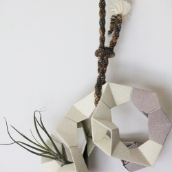 Geometric 3D hanging planter.
