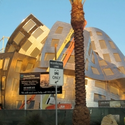 Frank Gehry designed brain center outside of Vegas represents the right and left sides of the brain, ordered and random respectively.