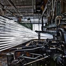 Chabel Abou Zeidan casts light on Wevelgem's Manufacture Franco Belge through huge C-prints. At Mill42 Art Space in Belgium.