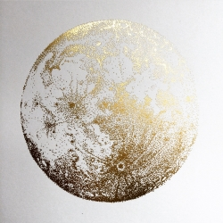 Sabrina Kaici latest print release is a gold foil Full Moon available in a limited edition of 300, each signed and numbered by the artist.
