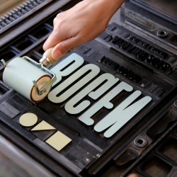 The Royal Danish Academy of Fine Arts, School of Design establishes a LETTERPRESS STUDIO. This video shows a few Visual Communication Master students on their first journey into the world of Letterpress.