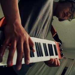 Wilson Wen-Cheng Liang's Ambidextro is a keytar with the double-sided key design that enables the musician to perform with both hands.