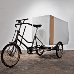 The Ant AV Tricycle is inspired by bicycle and tricycle cultures worldwide and conceptualized to be both a vehicle and platform for urban communication and interaction.