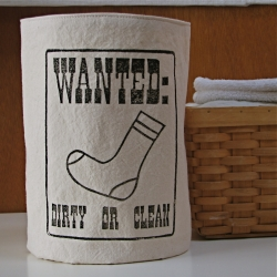 A bucket to store those socks that make it out of the dryer without their mates until the mates reappear.