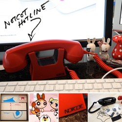 """The NOTCOT Hotline ~ a la Powerpuff Girls ~ It's become my """"work"""" phone when at my desk, makes me more professional acting... See a full Hulger unboxing, and special 20% discount for NOTCOT readers!"""