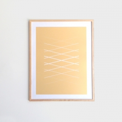 New metallic print series from Yield. When placed in a light-filled setting, the appearance changes throughout the day. Limited edition of 100.