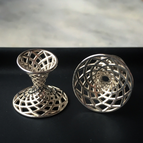 Diagrid Cufflinks: Architecturally inspired, digitally designed, 3D printed cufflinks from Cffs.