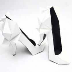 Ndeur is a group a French who is behind the line of projects called Make a Paper World. These awesome shoes are made as accessories for designer Heidi Ackerman.