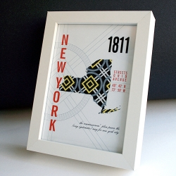 A little print paying homage to the systematic wonder that is the New York City Grid Plan.