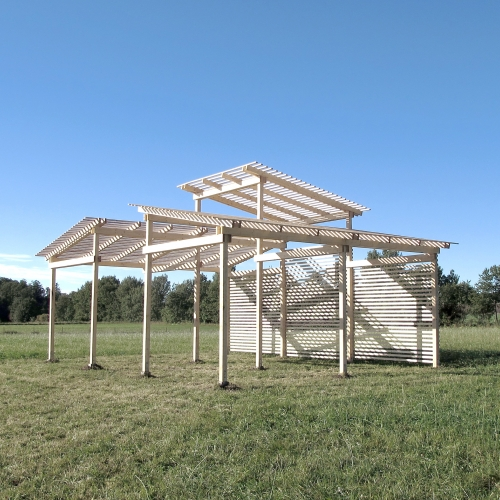 Featuring-Featuring designed a permanent pavilion for Bokeslundsgården, one of Sweden's leading organic farms. To be a multi-use space for lectures and day to day farm work.