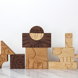 'Aminal' Blocks by Studio DUNN.  Heirloom quality wooden toy encourages imagination and adventure!