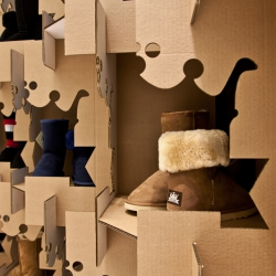 Chic Empire Shelf made out of cardboard. By Boriss Krutiks in Riga.