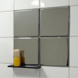 Imse by Per Bäckström ~ a series of mirrored plates that can mount onto existing tiles to add a little something to the bathroom, etc.