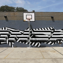 Animated graffiti! INSA paints walls multiple times to create these amazing moving murals.